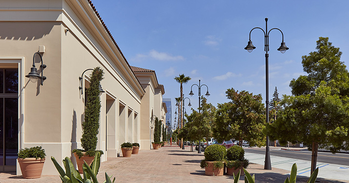 Shopping centers in California